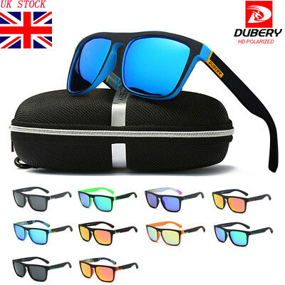 DUBERY Polarized Sunglasses Men Women Square Cycling Sport Driving Fishing UV400
