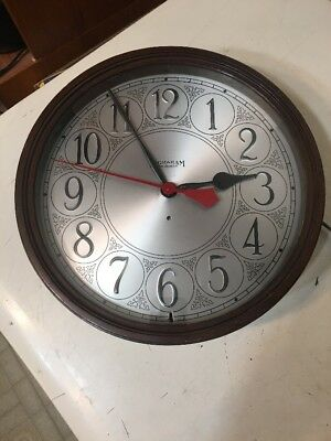 Rare Antique Early Ingraham Electric Wall Clock Round Wood Gallery Case