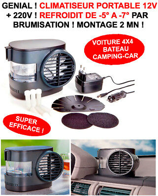 Genial Climatiseur 12V Voiture 4X4 Camping-Car Montage 1Mn Refroidit -5 A -7° !