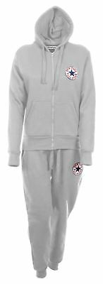 New Womens Ladies All Star New York Full Tracksuit Hooded Top Bottom Jogging Set