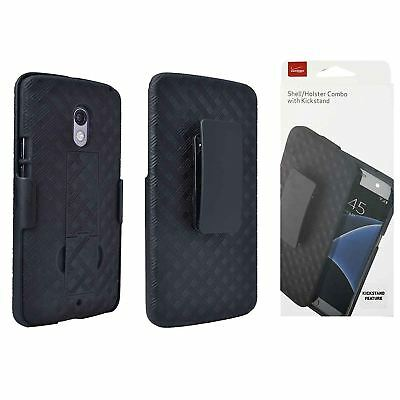 Verizon Shell/Holster OEM Belt Clip Combo Case Cover with Kickstand - Black