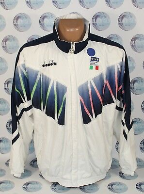 bb6453fa3 Italy National Team 1990 s Football Soccer Jacket Coat Training Diadora Men  Xl