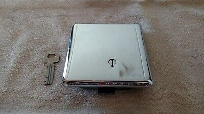 3 Slot Chrome Western Electric Payphone Vault Door with 30C lock and key