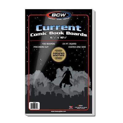 "BCW 1BBCUR Current Comic Backing Boards, 6 3/4"" X 10 1/2"", 100 Boards per Pack"