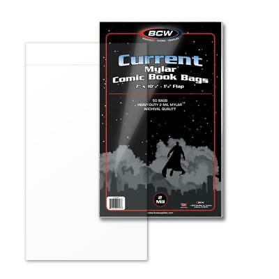 "BCW 1CUR Current Comic Bags 6 7/8"" x 10 1/2"" - Safe Storage - 100 per Pack"