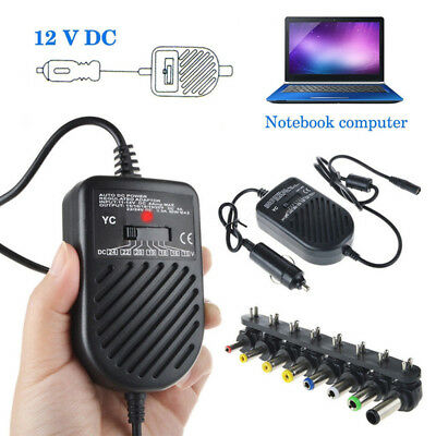 80W Universal Laptop Notebook Car Auto Charger DC Power Supply Adapter 15V-24V