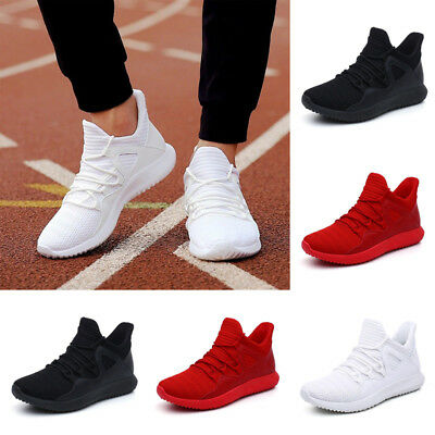 Men Gym Trainers Outdoor Sneaker Breathable Casual Sport Athletic Running Shoes.