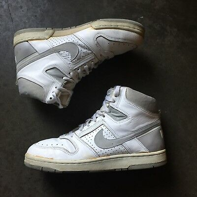 detailed look c44b3 ac113 Mens Original OG 1987 Nike Air Delta Force AC High White Gray Leather Sz  9.5