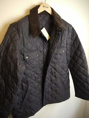 Barbour Mens Tinford Quilted Jacket, XL, Navy Blue, New with Tags