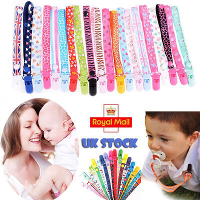 Baby Boys Girls NewBorn Soother Clip Themed Dummy Cartoon Holder Pacifier Strap