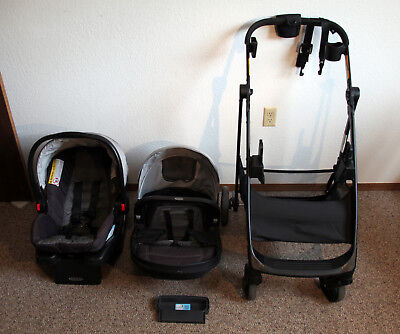Graco Remix Stroller with Snugride 35 Click Connect Infant Car Seat VERY NICE!