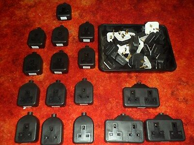 WHOLESALE JOB LOT of Rubber Extension Sockets - 13x 1g & 3x 2g and 17x Plugs