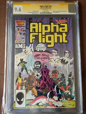 ALPHA FLIGHT (1986) #33 CGC 9.6 SS MIKE MIGNOLA NM+ First Lady Deathstrike