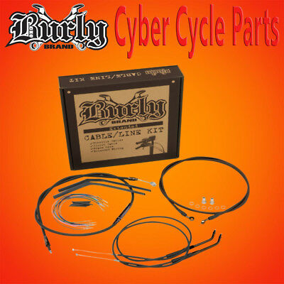 "Burly Brand 14"" Non-Abs Handlebar Cable Install Kit For Single Disc B30-1012"