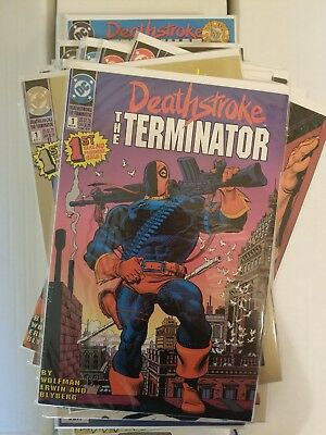 Deathstroke 1991 #1-60 complete series plus gold variant, #0, annuals