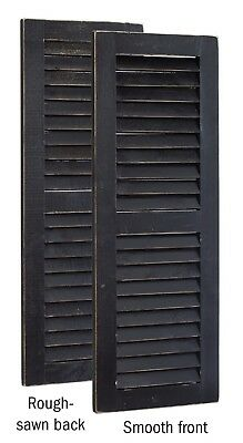 Primitive Pine 3 Foot Tall Pair of Decorative Louver Shutters -Amish Made in USA