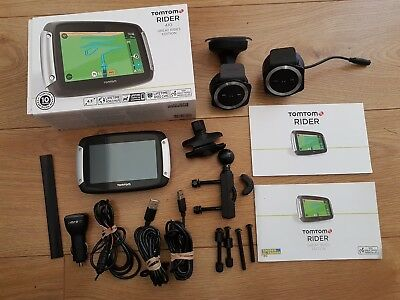 TomTom Rider 410 motorcycle Sat Nav incl.car mount kit & dual USB charger