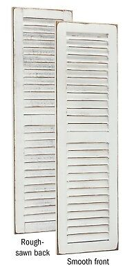Primitive Pine 4 Foot Tall Pair of Decorative Louver Shutters -Amish Made in USA