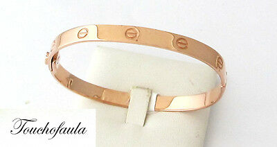 74c522524 14K Rose Gold Ladies Cuff Bracelet 13.00 Grams Oval Shape With Screws Italy.