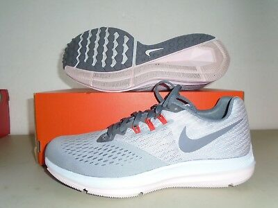 huge selection of 3f77f b3510 New Nike Womens Air Zoom Winflo 4 Anthracite Grey Gunsmoke Running Shoes sz  10.5