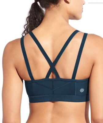 cc500a388 ATHLETA BLACK FRONT Zip Stealth Bra ~ NWT Medium -  16.99