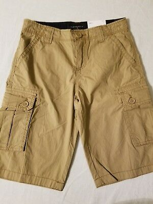 a7d74be71 NWT BOYS TOMMY Hilfiger Cargo Shorts Navy Size 10 Flat Front Kids ...