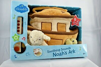 Cloud B Soother NOAH'S ARK  8 Soothing Sounds Baby Nursery Crib Toy New