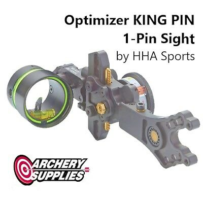 Optimizer KING PIN 1-Pin Sight for Compound Bow Archery by HHA Sports