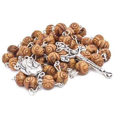 """Olive wood Handmade Rosary beads Prayer Knot with Holy Soil from Jerusalem 21"""""""