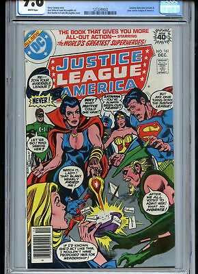 Justice League of America #161 CGC 9.8 White Pages Zatanna Joins