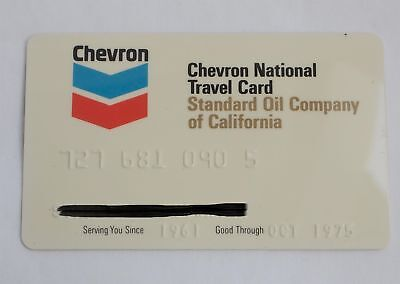 Chevron USA Inc Gas National Travel Credit Card 1975 Expired Unsigned Yellowed