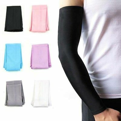 Ice Silk Arm Cuff Sleeves UV Sun Protection Basketball Cycling Sports Cooling SP