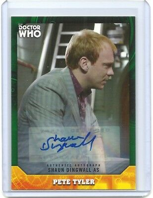 Doctor Who Signature Series Pete Tyler Shaun Dingwall autograph auto card 96 /50
