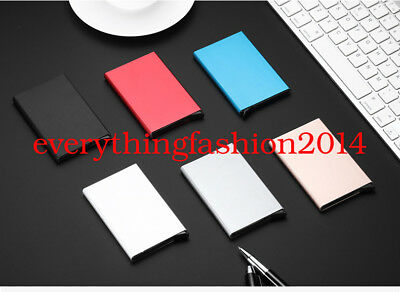 Test RFID Protector Aluminum Wallet Card Case For Metal ID Credit Card Holder