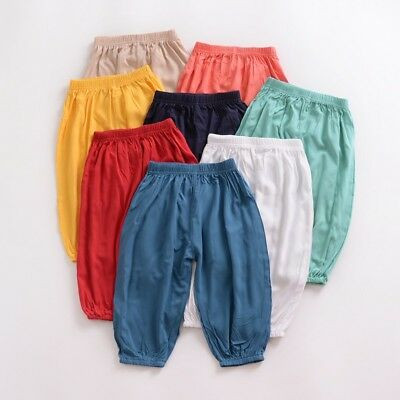 Toddler Kids Baby Boy Girl Harem Pants Casual Trousers Sweatpants Leggings