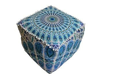 Strange Multi Color Mandala Square Pouff Cover Footstool Ottoman 16 Gmtry Best Dining Table And Chair Ideas Images Gmtryco