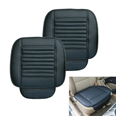 2X Breathable Leather Bamboo Car Seat Cover Pad Mat Auto Chair Cushion Universal