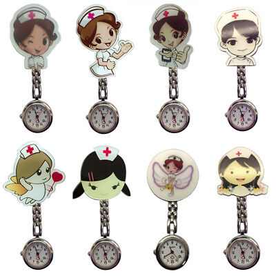 Novelty Nurse Fob Watch Brooch Pocket Watches Doctor Medical Pendant Clip Gifts