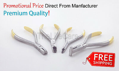 Dental Orthodontic Distal End,Hard Wire,Micro Ligature, Detailing Step Pliers 4x