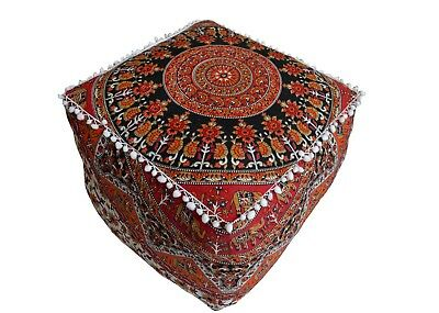 Awesome Multi Color Mandala Square Pouff Cover Footstool Ottoman 16 Gmtry Best Dining Table And Chair Ideas Images Gmtryco