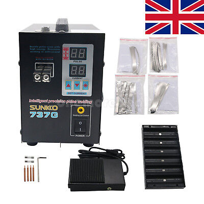737G 1500W Battery Spot Welding Machine Welder for 18650 Battery Pack EU PLUG