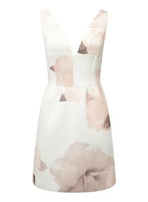 Ladies Peach Floral Prom Party Dress From Miss Selfridge Uk Size 6