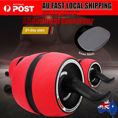 Fitness Ab Pro Perfect Carver Workout Abdominal Exercise Roller Trainer Gym AU