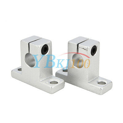 2PCS SK8/10/12/16 Linear Rail Bearing Shaft Guide Support Bracket Clamp Alloy BS