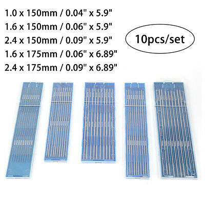 10pcs TIG Welding Tungsten Electrodes 2% Lanthanated WL20 For Welding Metals BS