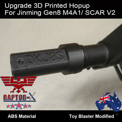 Upgrade 3D Print Jinming Gen8 M4A1 SCAR V2 Hop Up 7-8mm Gel balls Blaster Hopup