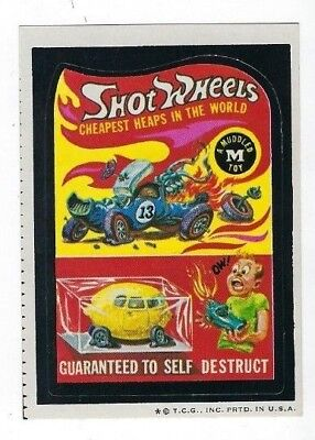1974 Topps Wacky Packages 5th Series 5 (HOT) SHOT WHEELS high-gloss nm- o/c