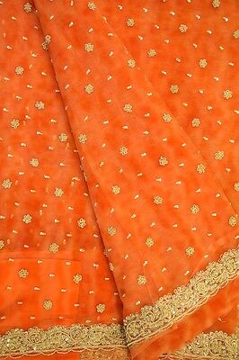 Antique Vintage Sari Pure Net Saree Decor Self Woven Wrap Indian Craft PNS1005