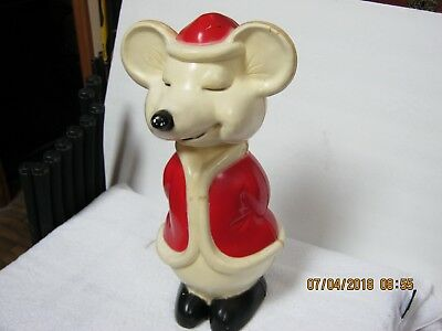 """Vintage: """" Rare """" Hard Plastic Mouse Blow Mold, Lighted, 15"""" In Height. Must See"""