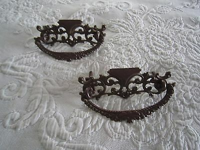 2 Antique Ornate VIctorian DRAWER HANDLES PULLS c1900's  FREE SHIPPING